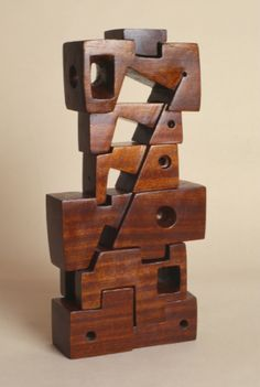 Poem II, 1963–65 by Saloua Raouda Choucair -Mahogany Collection Saloua Raouda Choucai.