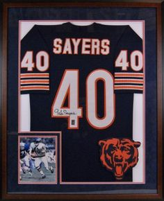 1830 gale sayers autographed framed jersey httpwwwamazon
