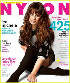 Love her hair here!!  Lea Michele wears cat ears on the cover of Nylon magazine's September 2012 issue, on newsstands August 28.