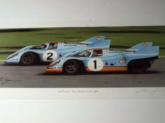 STUNNING PORSCHE 917 JO SIFFERT PEDRO RODRIGUEZ LIMITED PRINT LE MANS 1970 1971 | eBay