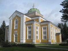 Kerimäki Church, world's largest wooden church in Finland by phototouring Helsinki, Meanwhile In Finland, Colour Architecture, Scandinavian Countries, Cathedral Church, Place Of Worship, Kirchen, Europe, Old Town