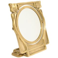Art Nouveau Vanity Table Top Mirror in Bronze | From a unique collection of antique and modern table mirrors at http://www.1stdibs.com/furniture/mirrors/table-mirrors/