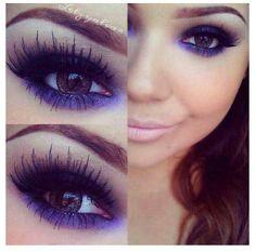 Love purple eyeshadow