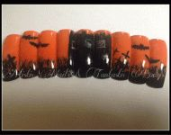 Halloween nails by Maren Harris #nails #nailart #halloween