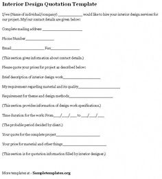 Sample Interior Design Contract Form Template   Document ...