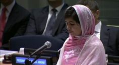 Malala Yousafzai addresses the UN Youth Assembly.  She is changing the world with her courage.  HAPPY SWEET 16th MALALA! ♥