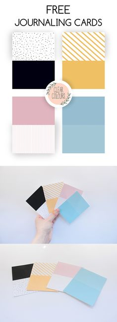 Clear Colours: Free Journaling Cards - Halfs
