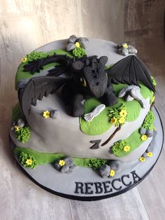 Toothless ( how to train your dragon) cake