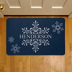 Holiday Welcome Doormat - Snowflake   Personal Creations
