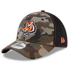 7525eae3d Men s Cincinnati Bengals New Era Camo Woodland Shock Stitch Neo 39THIRTY  Flex Hat