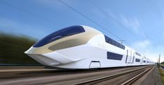 Aerospace-inspired wonder could be the UK's first double-decker high-speed train. - Aerospace-inspired wonder could be the UK's first double-decker high-speed train – Trains - Transportation Technology, Future Transportation, Trains, High Speed Rail, Double Deck, Electric Train, Train Pictures, Speed Training, Automotive Design