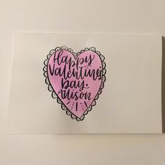 Personalized Classic Valentine's Day Card by SwaggieScript on Etsy