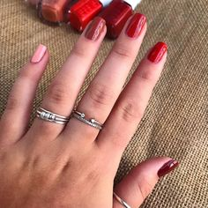 """Olivia Anderson on Instagram: """"wearing five of the new shades from the @essie rocky rose collection. 'come out to clay', 'cliff hanger', 'rocky rose', 'yes i canyon', and…"""" Cliff, Coming Out, Essie, My Nails, Hanger, Shades, How To Wear, Collection, Instagram"""