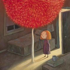 Images of emotion ... a blossoming of hope from an illustration in  Shaun Tan's book, The Red Tree.