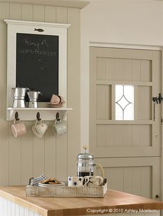 Our economical hand painted bespoke kitchen   Natural Calico