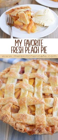 for a tried-and-true fresh peach pie recipe? It's my favorite peach pie for good reason: simple and so delicious! Plus, you can top it with a traditional lattice crust OR a buttery, yummy, sweet crumb topping. Easy Peach Pie, Peach Pie Filling, Easy Peach Dessert, Peach Crumb Pie, Peach Slab Pie, Peach Pies, Fresh Peach Recipes, Fresh Peach Pie, Peach Pie Canned Peaches