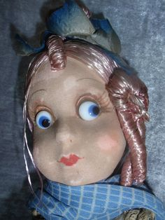 """14"""" FRENCH, GOOGLY EYED, BOUDOIR DOLL W/ORIG HANG TAG.  """"TLC""""  ALL ORIGINAL ORIGINAL HANG TAG AS WELL, READING: EDITH/11, MADE IN FRANCE, INCLUSIVE OF ANOTHER TAG SEW INTO HER SLIP."""