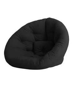 So comfy for relaxin with a good book!!  Black Round Futon on #zulily