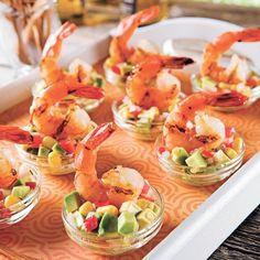Lime Shrimp and Mexican Salsa - Recipes - Cooking and Nutrition - Pratico Pratique Mexican Salsa Recipes, Nutrition, Pesto Recipe, Canapes, Tapas, Food Inspiration, Entrees, Shrimp, Seafood