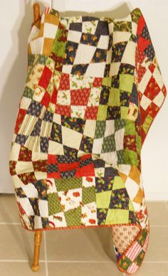 Christmas Quilt / Wonky Christmas Quilt / Holiday Quilt / Christmas Blanket / Chirtsmas Decor by SamBabyStudio on Etsy