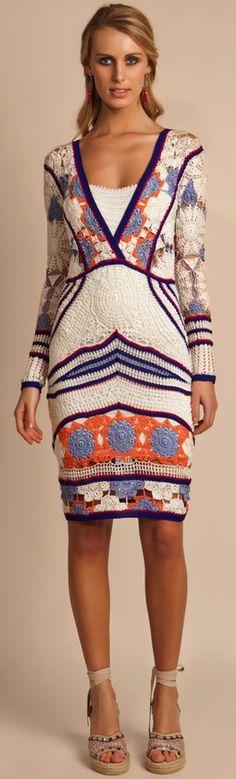 Vestidos de Crochê com gráficos e receitas – Parte 1