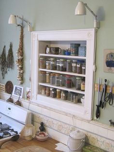 Image Result For Recessed Spice Rack