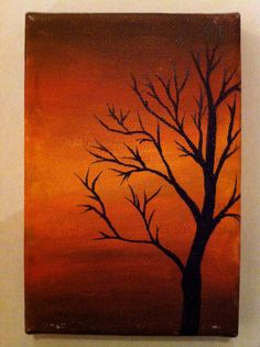 Abstract Tree at Dusk by JdubbStudio on Etsy, $35.00