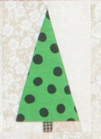 Christmas Flag Quilt, week 3 -- We're into the third round of our weekly upload of free full-size foundation patterns for Tina Curran's Christmas Flag quilt! Click through to our website for the free full-size foundation patterns for trees 5R, 6, and 7.