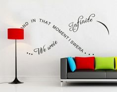 And in That Moment I Swear We Were infinite Diy Quote Wall Decal Sticker