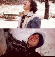 Darren Criss and snow