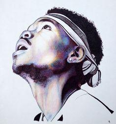 chance the rapper ballpoint pen by godisloveisart