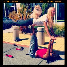 How's this for a yoga mashup... acro doga anyone? Articles and tutorials from our favorite Yogini Hannah!
