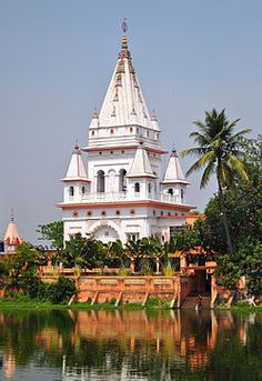 The Yogapith temple in Mayapur, West Bengal, India, is a shrine constructed at the birth site of Chaitanya Mahaprabhu (1486–1533). It was erected in the 1880s by Bhaktivinoda Thakur (1838–1914), a leading Gaudiya Vaisnava reformer and teacher, when, after much research, he rediscovered Chaitanya's original birthplace. Chaitanya founded Gaudiya Vaisnavism, better known in the West by its branch, the International Society for Krishna Consciousness, or the Hare Krishna movement. Photo: Cinosaur