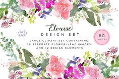 Elouise - Large Clipart Set by Twigs and Twine on @creativemarket