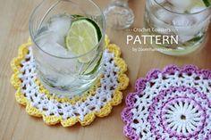 Crochet Pattern Sweet Crochet Coasters by ZoomYummy on Etsy, $3.80