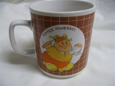 Vintage 1980s Enesco Human Beans Coffee Powered Mug 1983 Morgan Inc Novelty