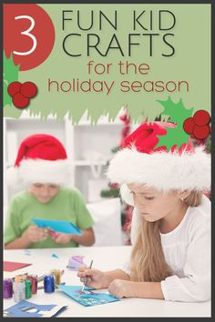Working with kids to create crafts for the holiday season is a great way to reestablish a connection during this busy time of year.