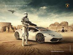 Lamborghini Advertising by Allan Portilho, via Behance
