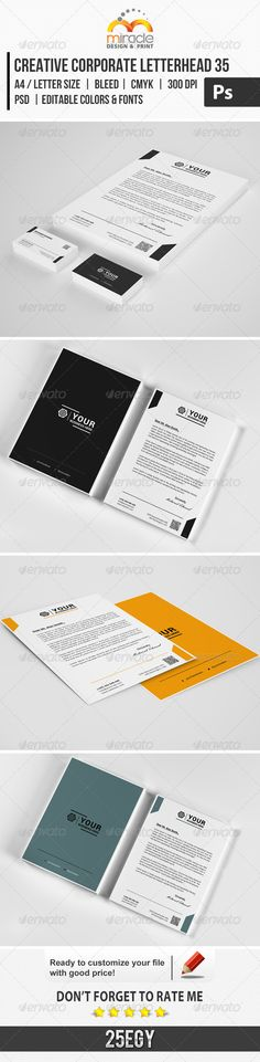 Corporate Letterhead Template Letterhead template and Letterhead - corporate letterhead