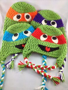 Crochet Ninja Turtles! Love my job :) www.facebook.com/KnotSewKrazy