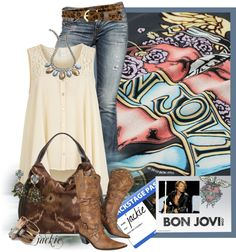 """Shot Through the Heart...Bon Jovi Backstage"" by jackie22 on Polyvore"