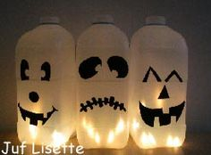 Lantern making / crafts for Halloween / Sint-Maarten; 25 easy examples and ideas suitable for toddlers and preschoolers - Mommy Love - Making lantern; 25 ideas for tinkering yourself for Halloween & St. Halloween Labels, Halloween Kids, Halloween Pumpkins, Happy Halloween, Diy Projects To Try, Diy Crafts For Kids, Projects For Kids, Haloween Craft, How To Make Lanterns