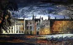 Looming: the North Front, Renishaw Hall, by John Piper 1942