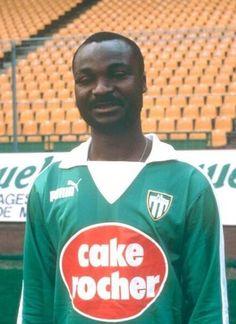 ROGER MILLA 1984-1986 SAINT ETIENNE Montpellier, St Etienne, Football Jerseys, Reebok, Sport, Saints, Jackets, Photos, Soccer