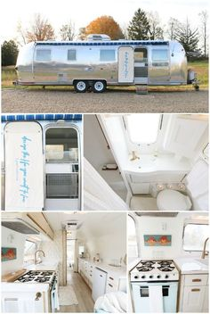 Small spaces are designer Lynne Knowlton's speciality whether it's a camper, airstream, cabin or treehouse. Heavily inspired by travel, her zest for life will transport you to a light and bright sanctuary through her heavenly reclaimed modern style. Airstream Camping, Airstream Living, Airstream Remodel, Airstream Renovation, Airstream Interior, Vintage Airstream, Airstream Trailers, Glamping, Trailer Remodel