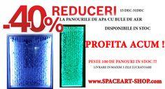 Profita chiar acum ! Stoc limitat ! Reducere 40% la peretii de apa cu bule de aer SpaceArt - peste 100 de modele - LIVRARE IN 3 ZILE LUCRATOARE Promotie valabila in perioada 15 dec - 31 dec in limita stocului disponibil  www.SpaceArt-Shop.com 0722525719 Interiors