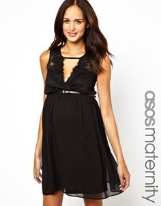 ASOS Maternity Skater Dress with Lace Wrap Front