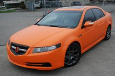 Matte Orange Acura TL Type-S