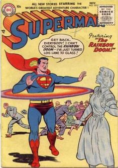 Rainbow Doom - Superman - Glass Woman - Lois Lane - Crowd Running