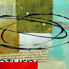 "Jane Davies collage journeys: 4""x4"""